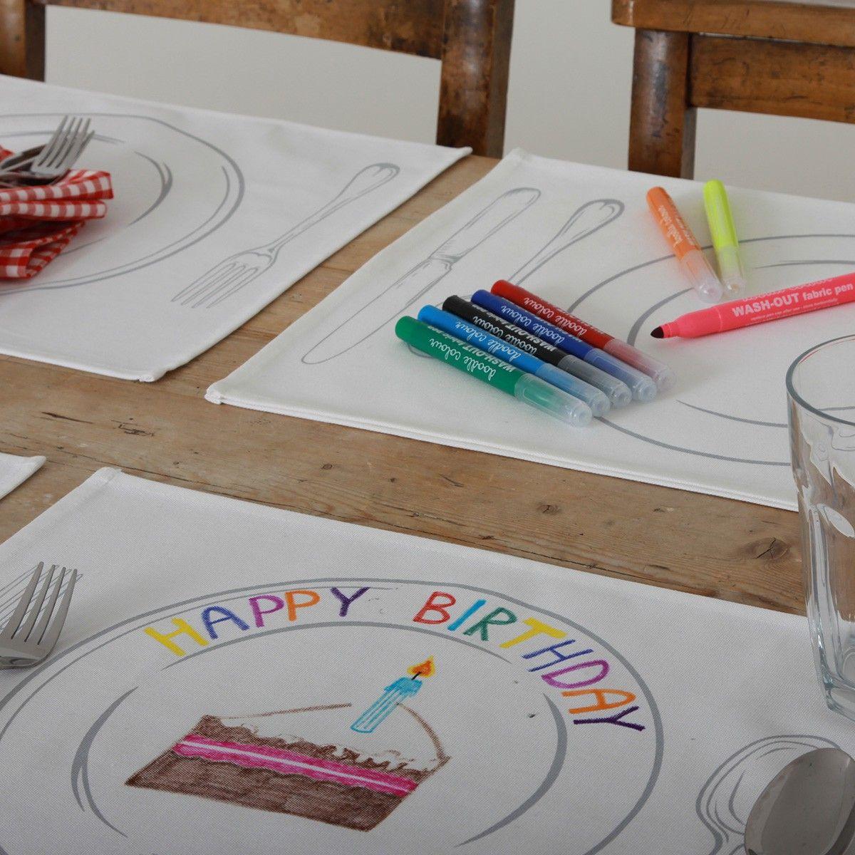 Ausgefallene Tischlen tischsets zum bemalen geschenke geschenkidee ausgefallenes