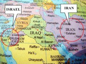 Bildergebnis für israel versus iran maps