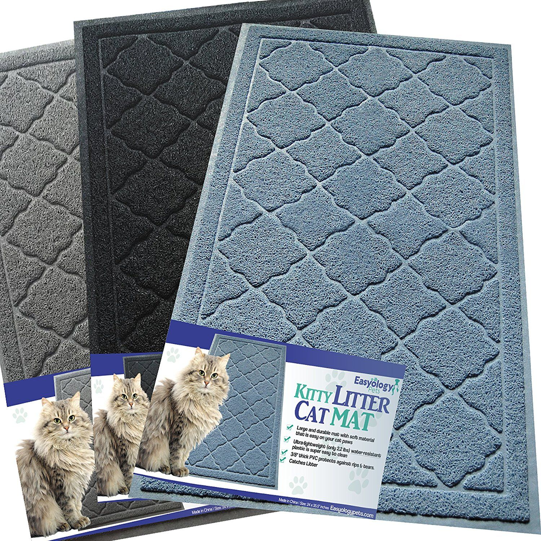 Easyology Premium Cat Litter Mat Xl Super Size Best Extra Large Scatter Control Kitty Litter Mats For Cats Track Cat Litter Mat Cat Litter Cat Pet Supplies