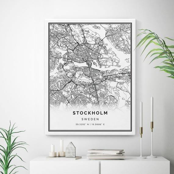 canvas print stockholm