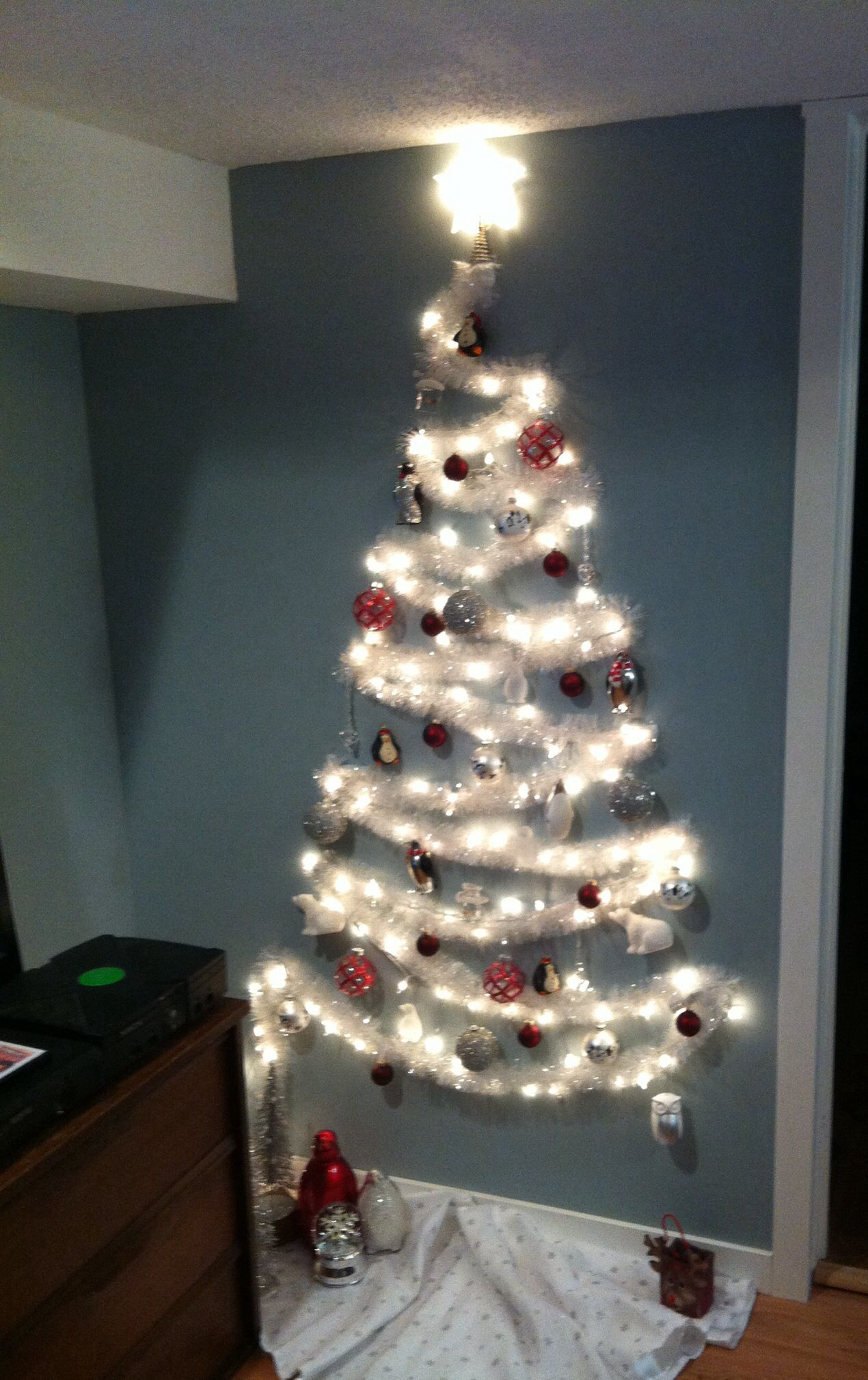 The No Tree Christmas Tree Wall Christmas Tree Diy Christmas Tree Alternative Christmas Tree