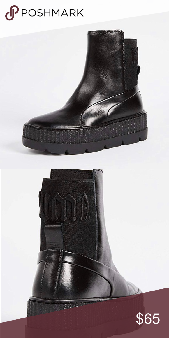 Puma X Fenty boots | Boots, Sneakers fashion, Black boots