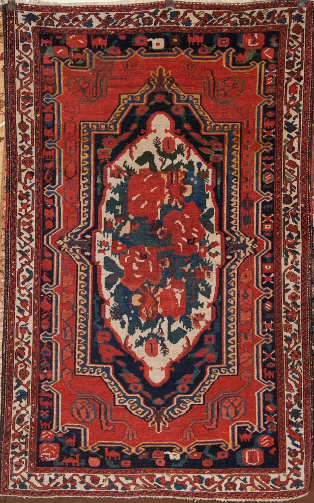 Antique Bakhtiari Persian Rug Woven Ca 1900 Size 6 8 X 4