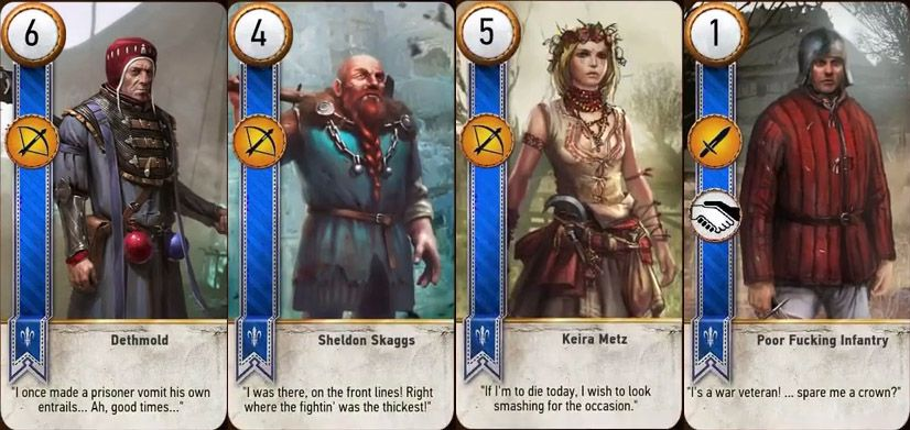 The Witcher 3 Gwent Cards List The Witcher The Witcher 3 Deck Of Cards