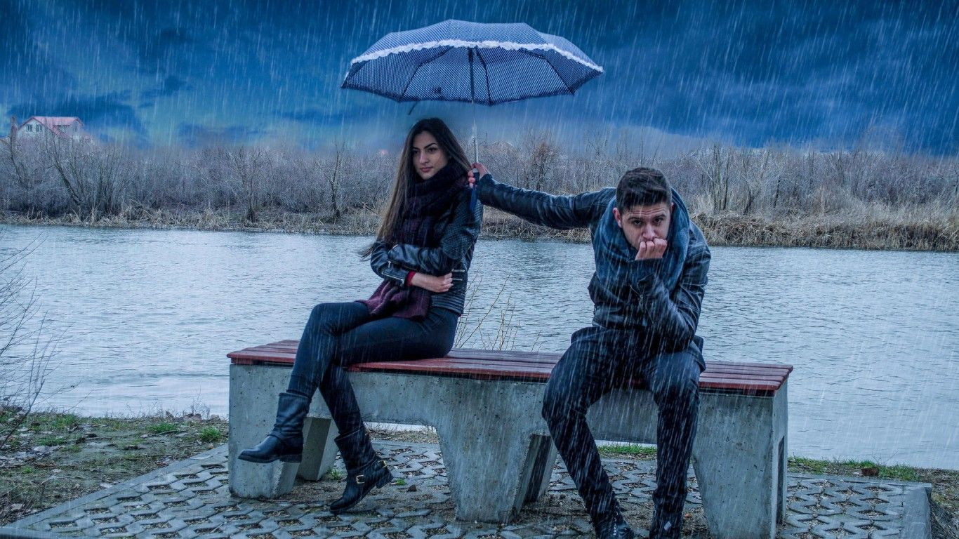 Love Boy And Girl In Rain Background Wallpaper Love Quotes For Her Angry Quote Love Problems
