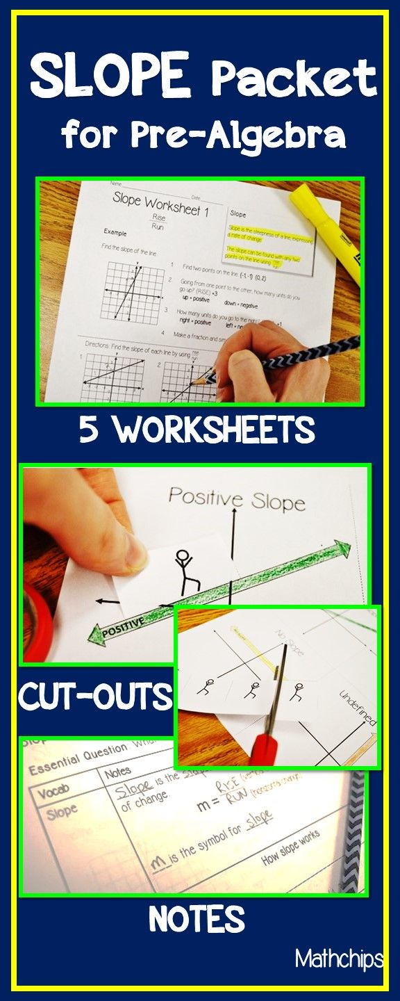 SLOPE Rise Over Run and Point Slope Packet Teaching