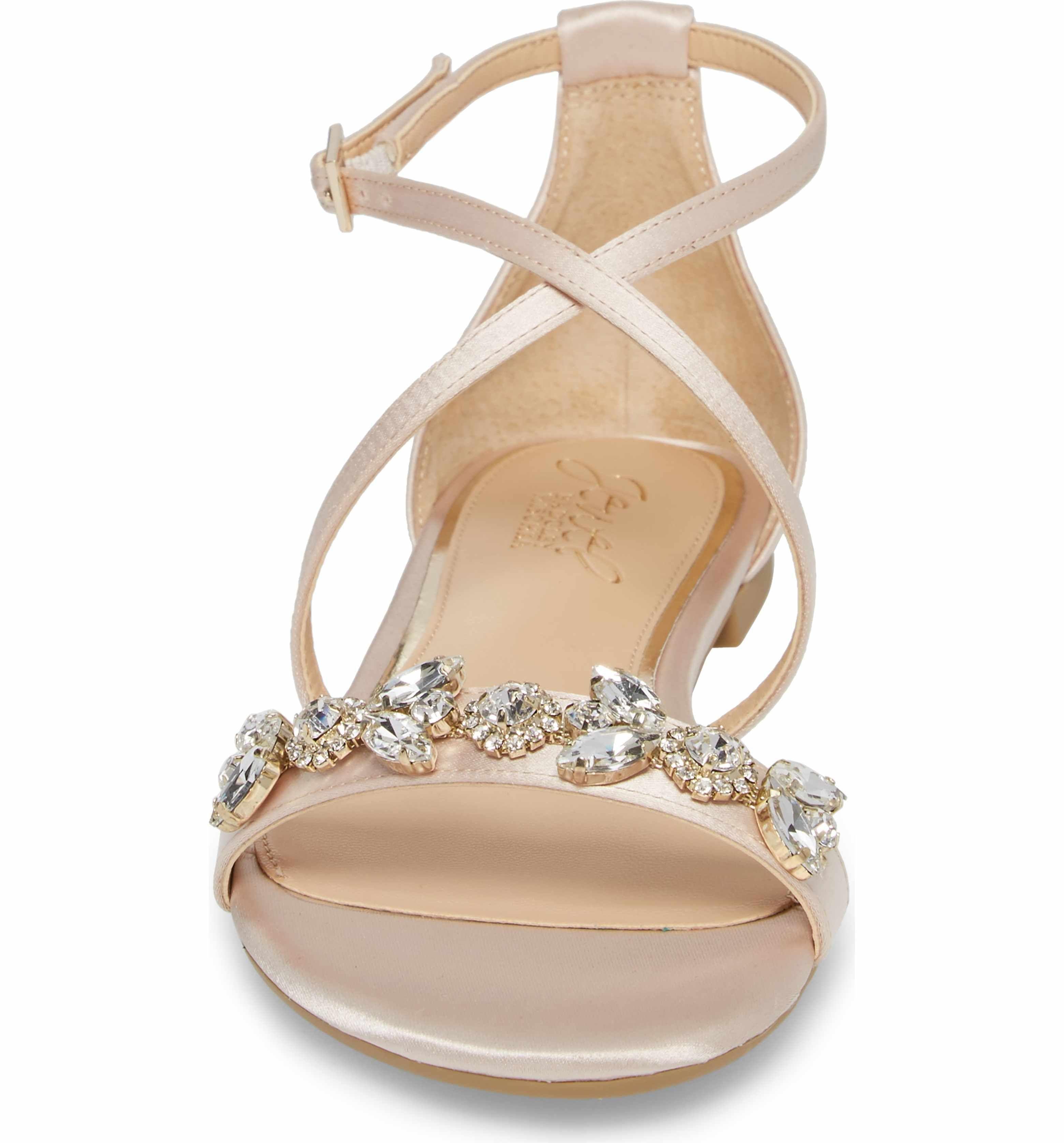 558399d22 Main Image - Jewel Badgley Mischka Tessy Embellished Sandal (Women ...