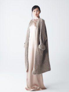 Eden Mohair Knit Coat with Ava Silk Dress