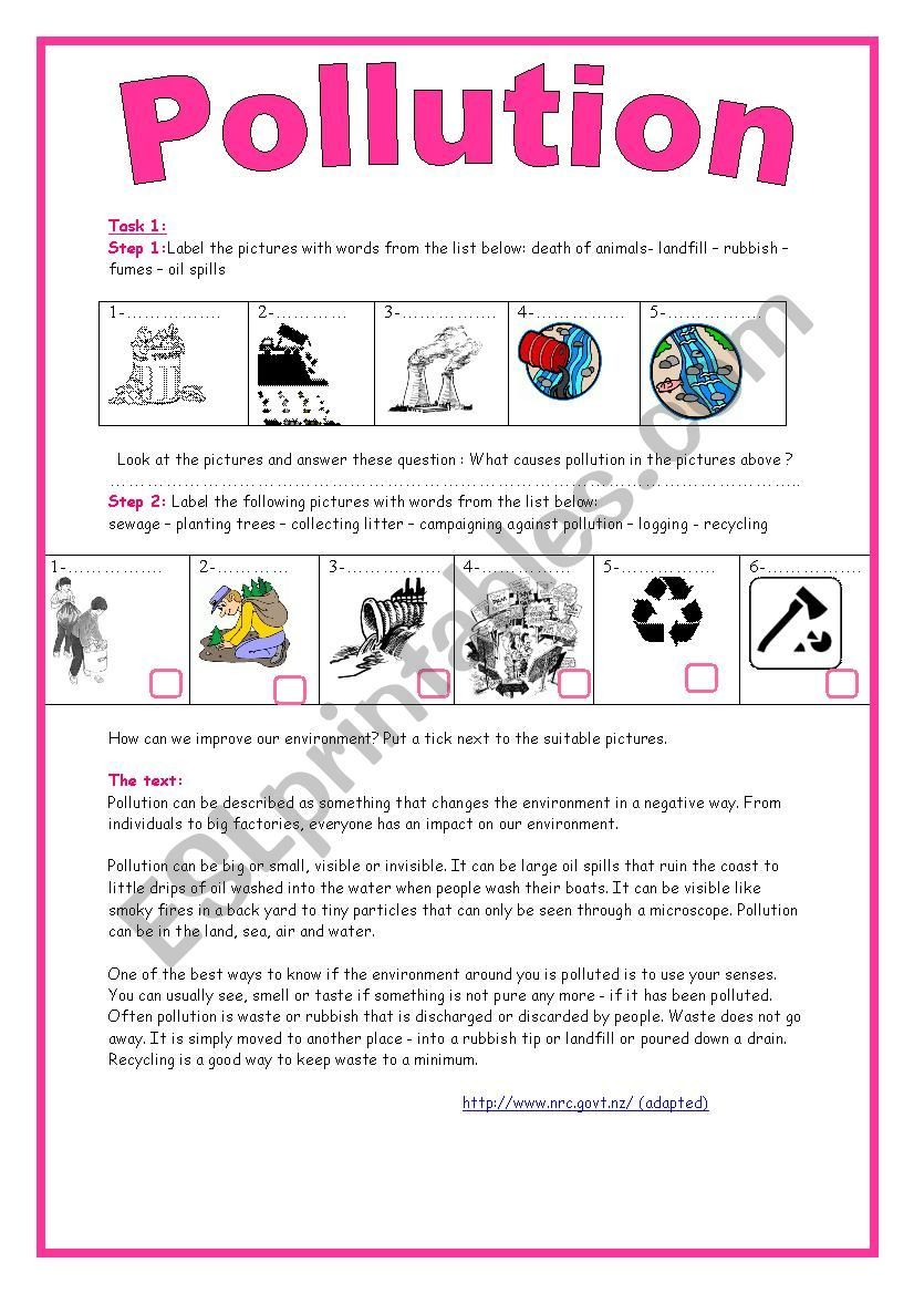 9th Form Module 3 Lesson 3 Pollution A Threat To Our Environment Writing Expressions Kids Study Pollution [ 1169 x 826 Pixel ]