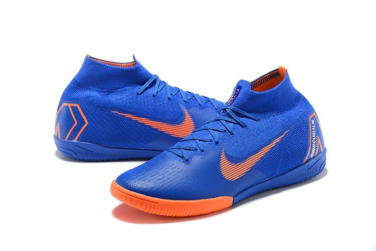 buy online 857fe 5fe0f Nike Mercurial SuperflyX VI Elite IC Indoor Futsal - Blue Orange Top Soccer,  Nike Soccer
