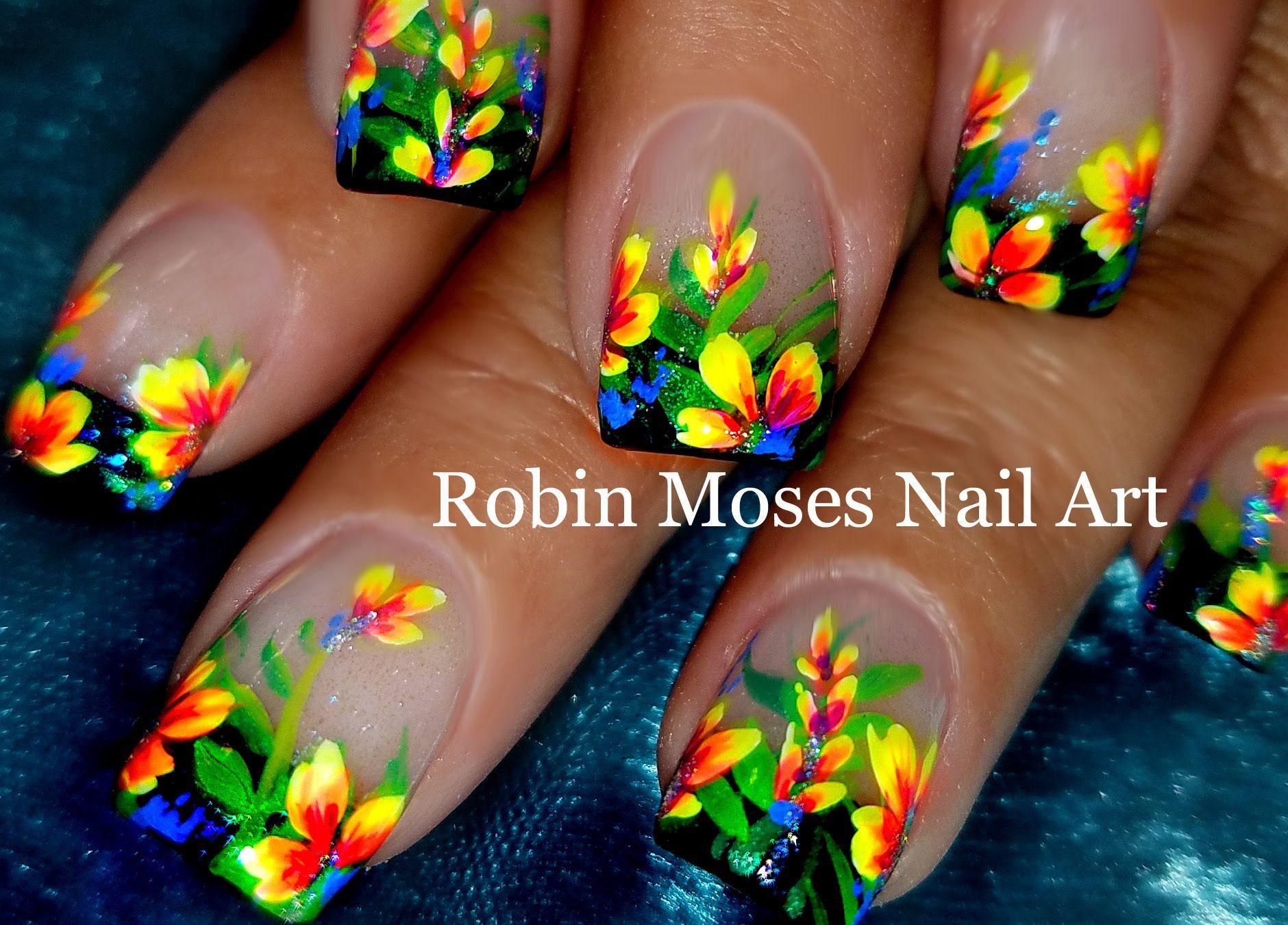 Diy Flower Nails Easy Floral Nail Art Design Tutorial Nail Art
