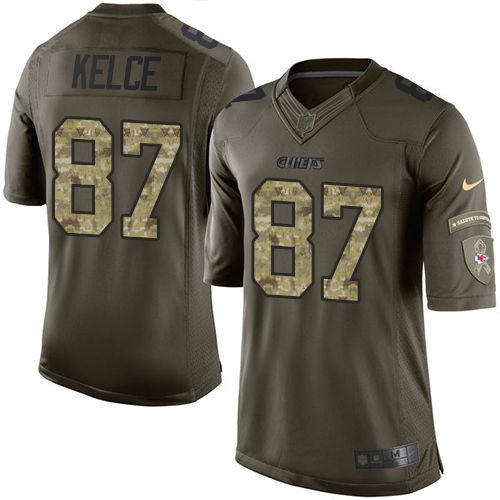 Nike Limited Travis Kelce Green Men s Jersey - Kansas City Chiefs  87 NFL  Salute to 1bd797b36