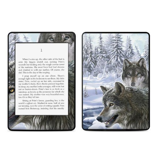 Snow wolves design protective decal skin sticker for amazon kindle paperwhite ebook reader 2