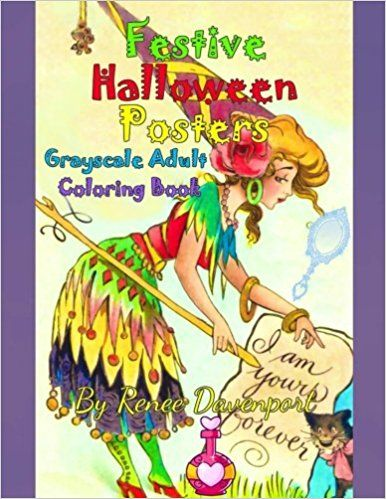 Read PDF Festive Halloween Posters Grayscale Adult Coloring Book ...