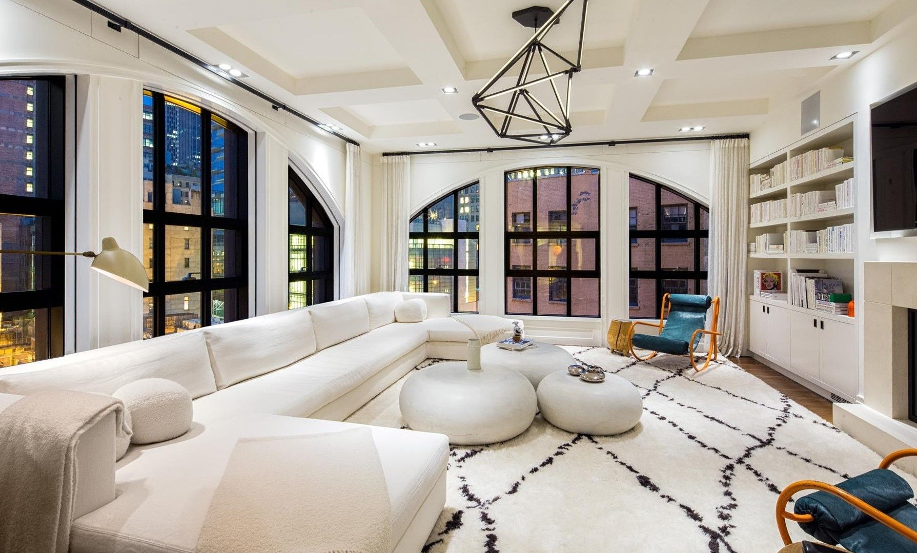 I Would Be Lounging All Day Long In This Chic Family Room