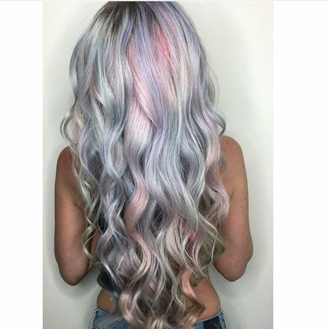 Metallic Pastel Watercolor Hair Holographic Hair Hair Color