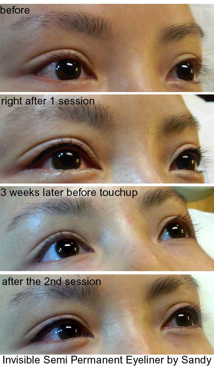 Process of Semi Permanent Eyeliner How to do eyeliner