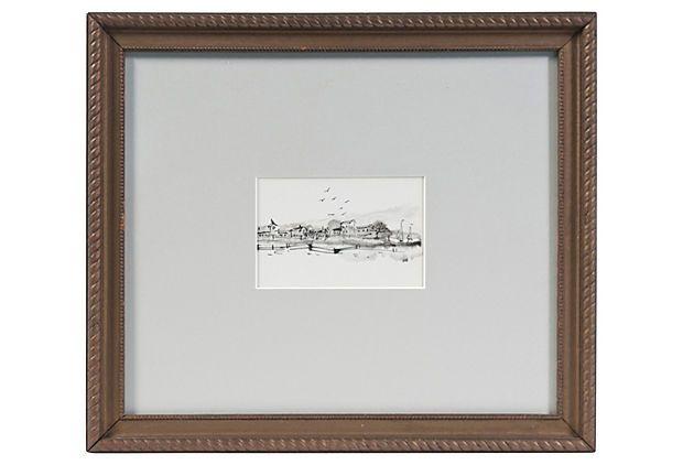 Ink Drawing, Mendocino Coast on OneKingsLane.com