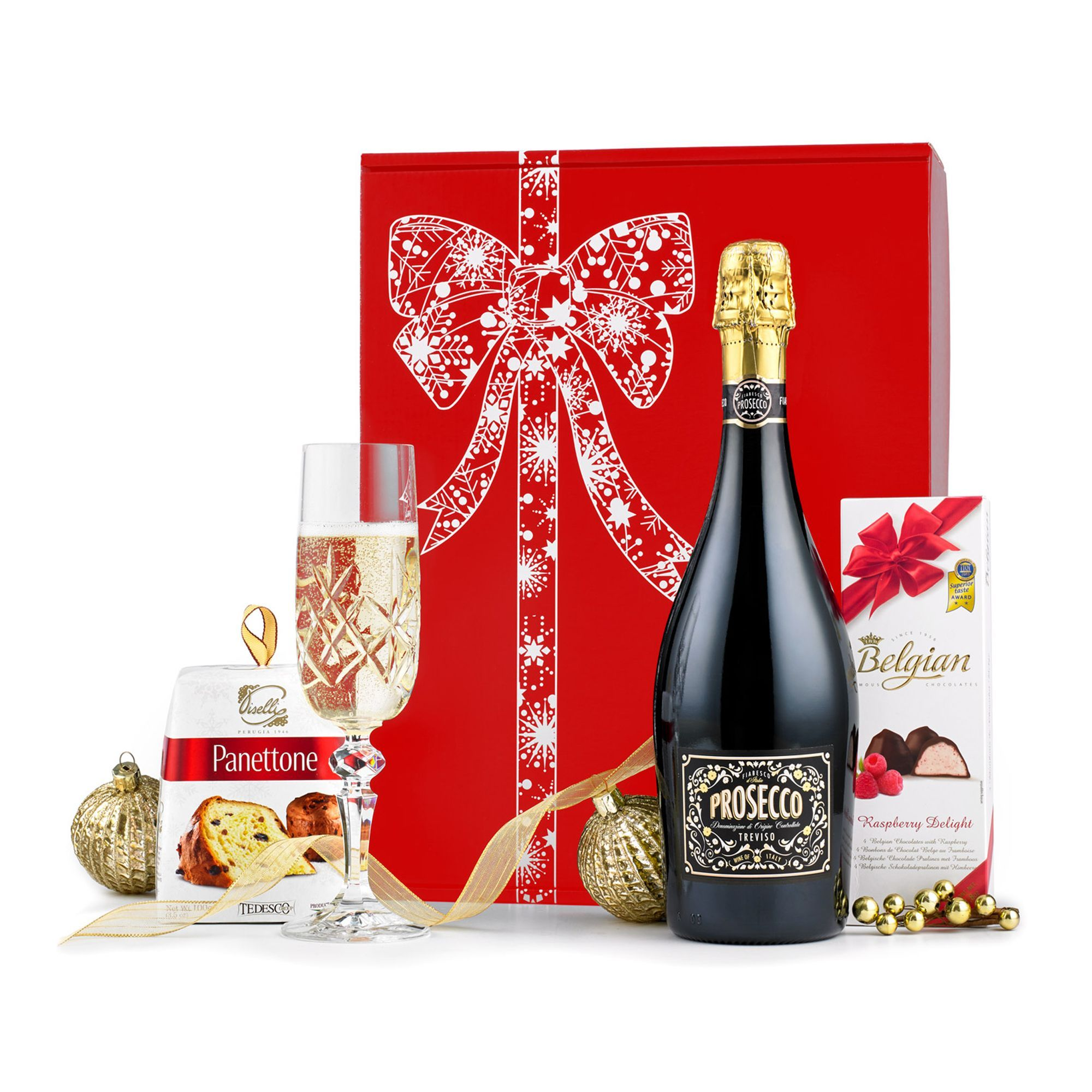 Prosecco Panettone Gift Box Gift Hampers Christmas Wishes Wish Gifts