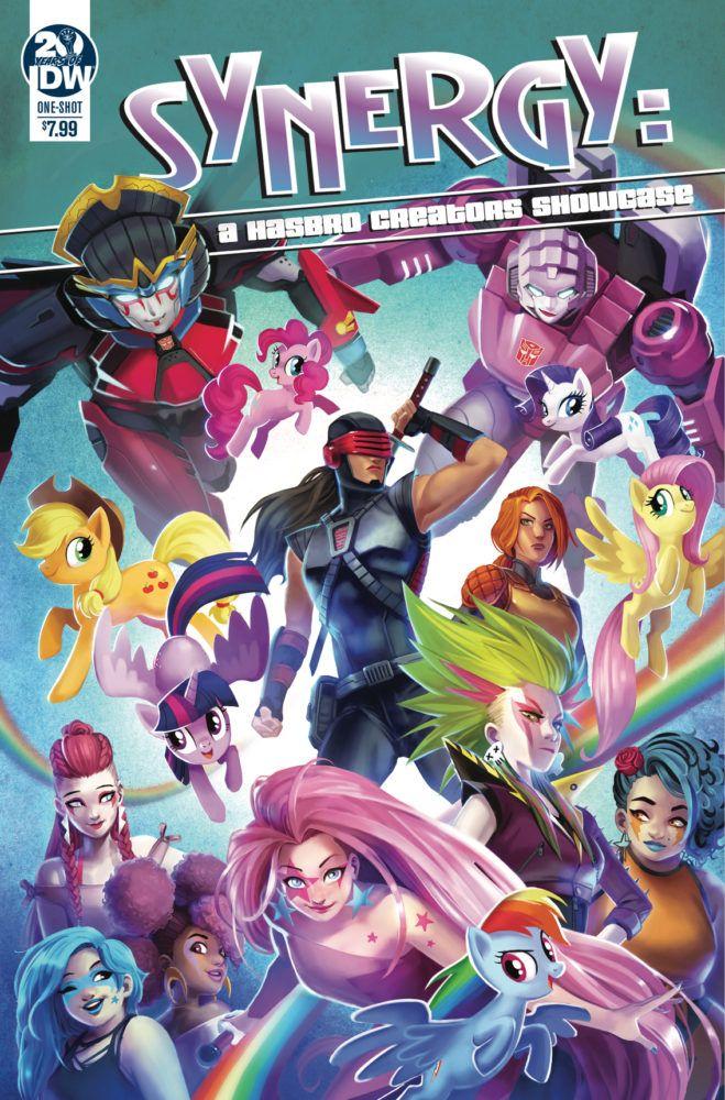 synergycover  my little pony comic hasbro avengers girl