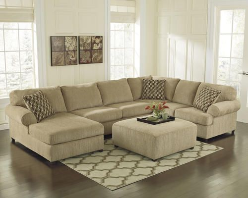 Mocha Chenille Sectional With Chaise At