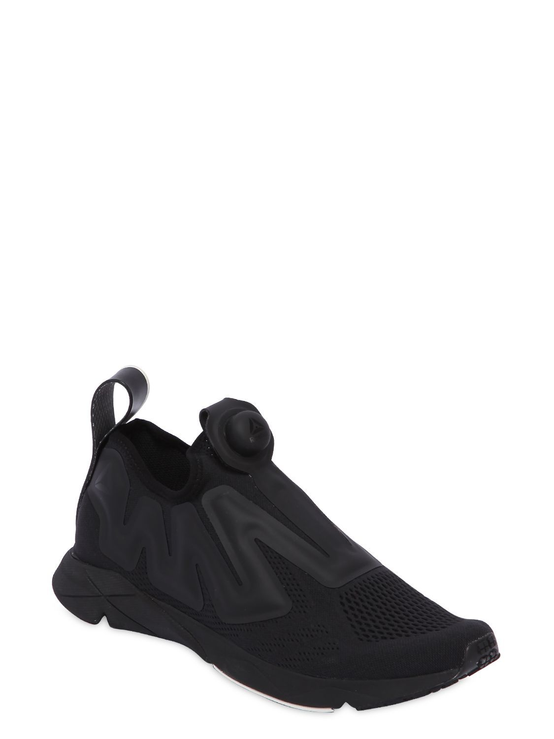 c44da747dc8b REEBOK - REEBOK PUMP SUPREME MESH SNEAKERS - SNEAKERS - BLACK -  LUISAVIAROMA - Created in collaboration with Reebok®. Instapump technology.