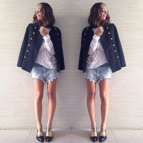 Spent the day inside so I could wear denim shorts #celine #oneteaspoon #zara #theheaterison by tashsefton