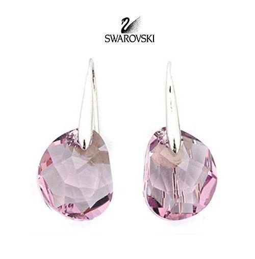 96f9dd725 Swarovski Pink Crystal JEWELRY Pierced Earrings GALET Light Amethyst #856299