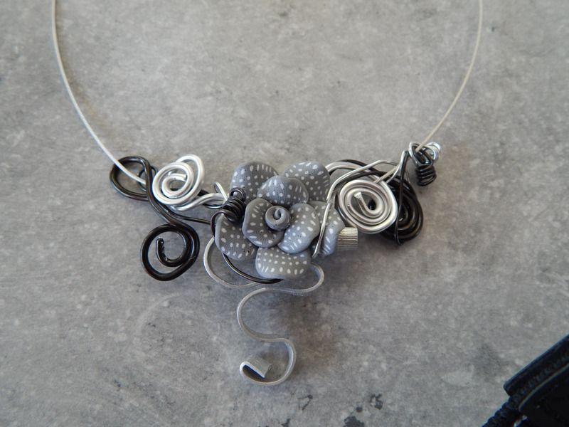 collier ras de cou aluminium