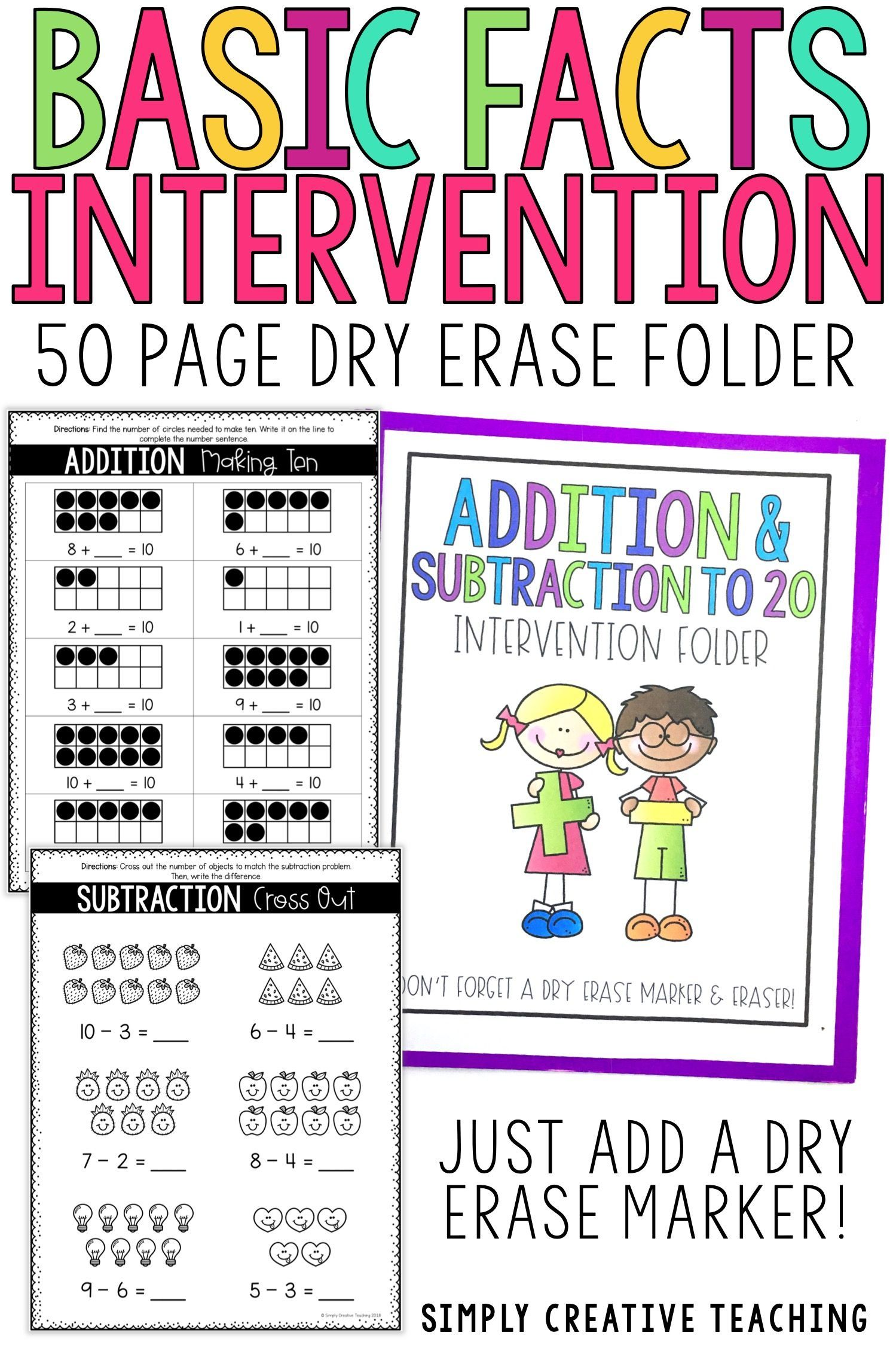 Addition Amp Subtraction To 20 Intervention Or Extra