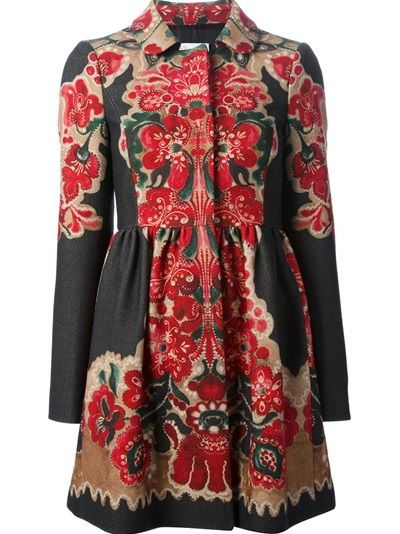 Cheap 2018 Newest Red Valentino printed coat Sale Online Shop utSxbzs