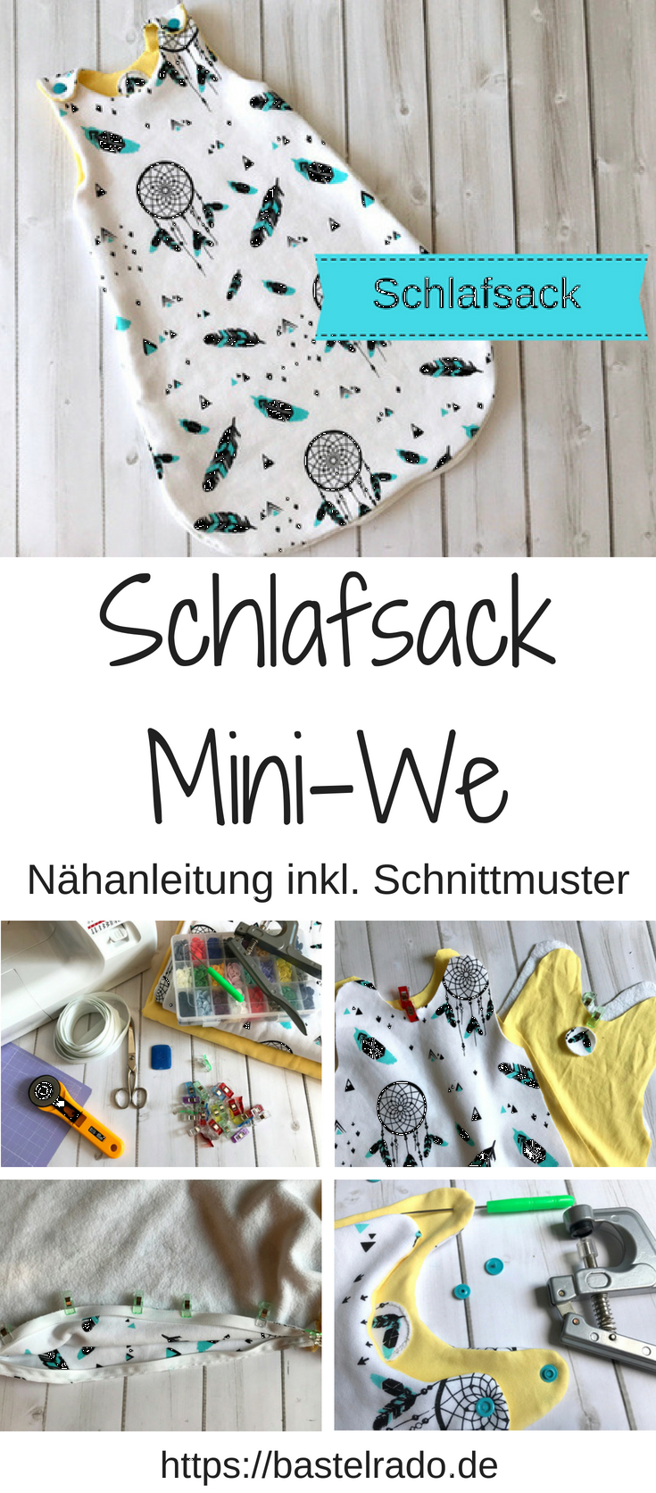 schlafsack mini we n hanleitung inkl schnittmuster b pinterest baby knitting patterns. Black Bedroom Furniture Sets. Home Design Ideas