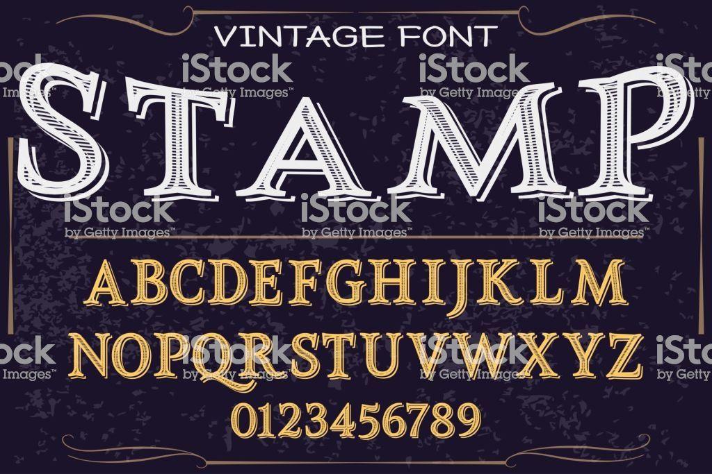 Font handcrafted vector script alphabet font vector