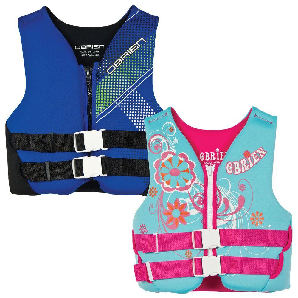 Youth life jacket neoprene