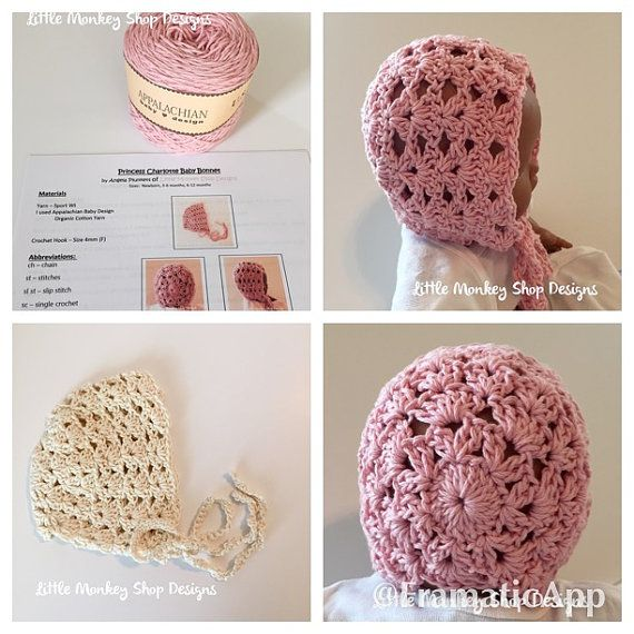 Crochet Baby Bonnet Kit - Crochet Pattern and Yarn - Crochet Baby ...