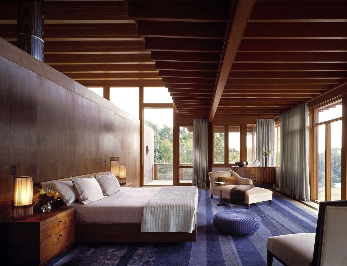 Wood ceiling #wood interior design home: u201c spacious contemporary