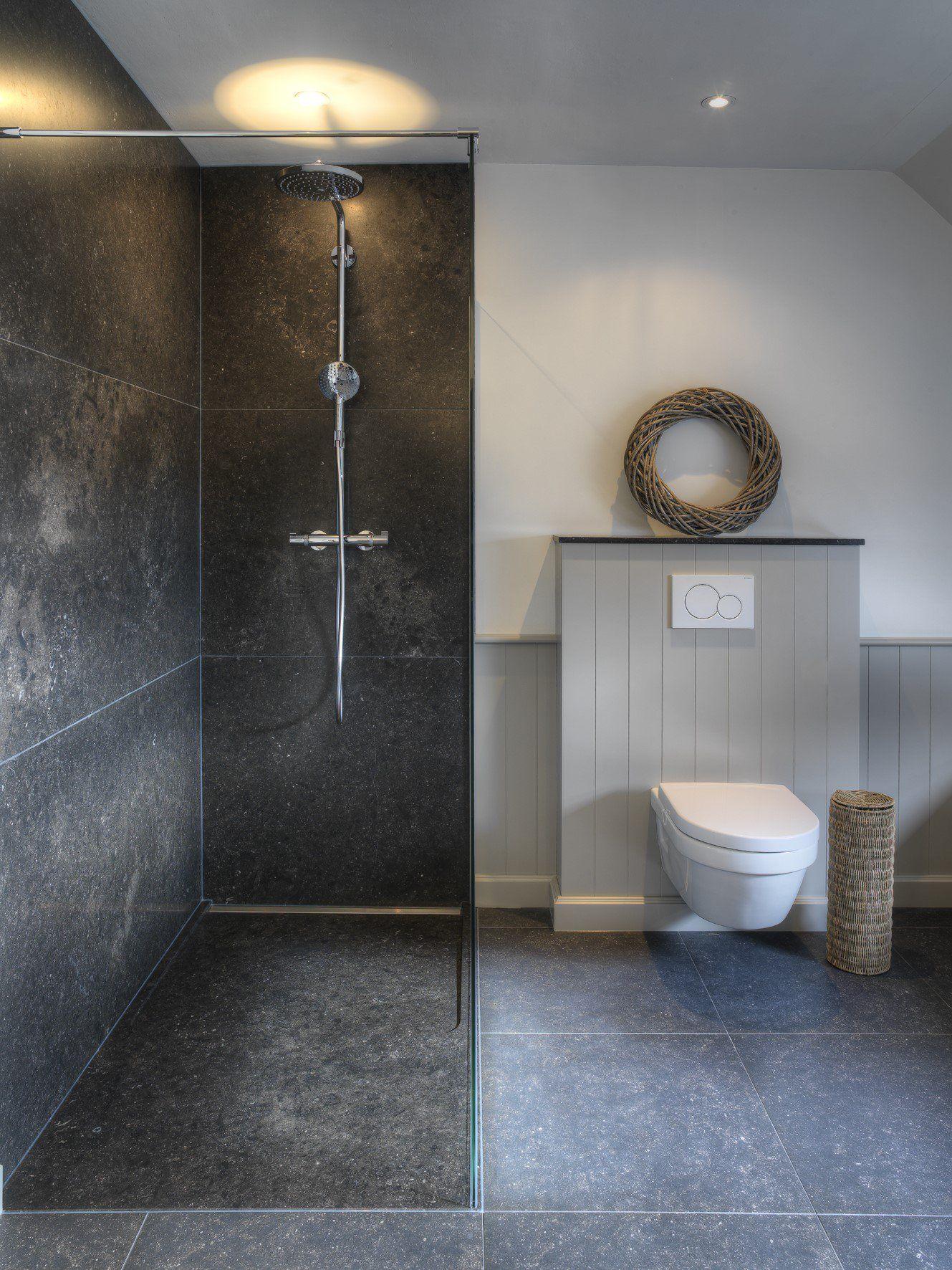 Cottage badkamer met natuursteen - Ideeën voor het landelijke huis ...