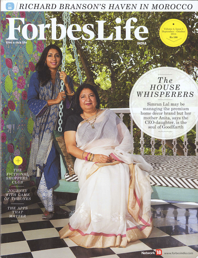 Shabana hussain of forbeslife india speaks to anita and for Anita lal