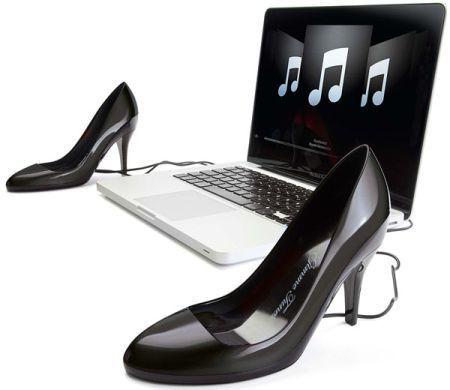 섹시한 하이힐 스피커, Sexy Stiletto Speaker Shoes.