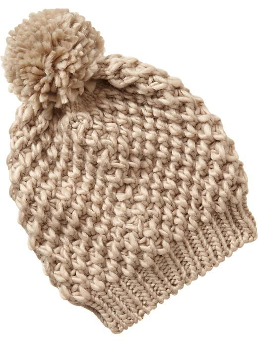 Old Navy Knit Pom Pom Hat -tan (not cream), to match my scarf ...