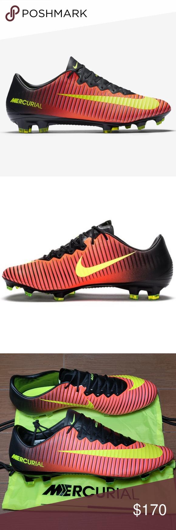 ac2876a256f Nike Mercurial Vapor XI FG Soccer Cleats VoltBlack BRAND-NEW Men s Sz 13  (UK 12