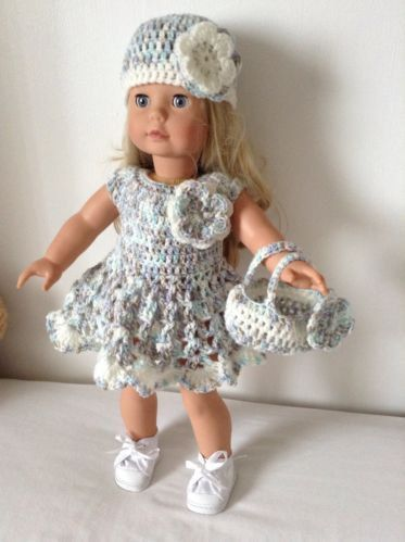 PDF Crochet pattern for 18 inch doll, American Girl Doll or Gotz doll