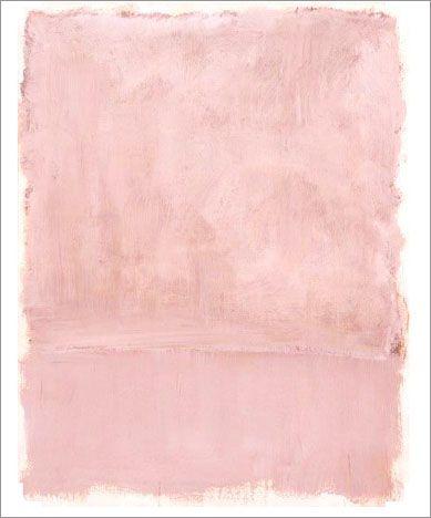 Pink On Painting Mark Rothko C 1953