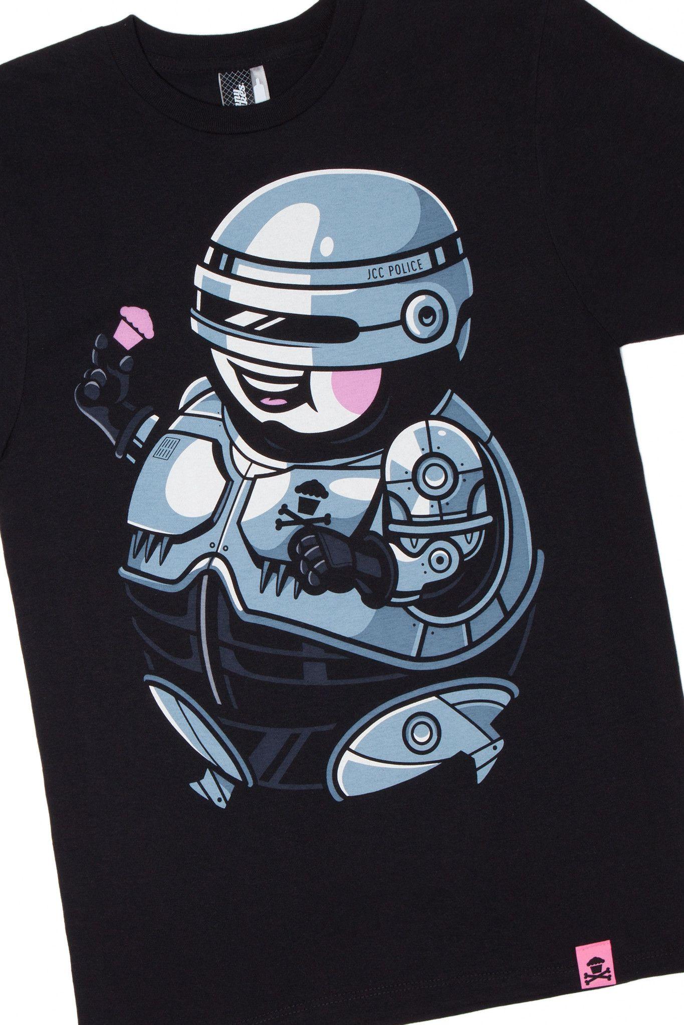 T-shirt design zeixs - Johnny Cupcakes Got To Love Robocop