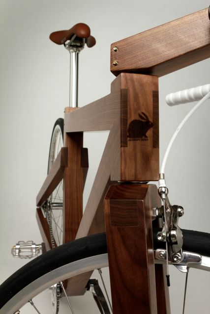 Walnut Bike Headshot with Lagomorph Logo Detail