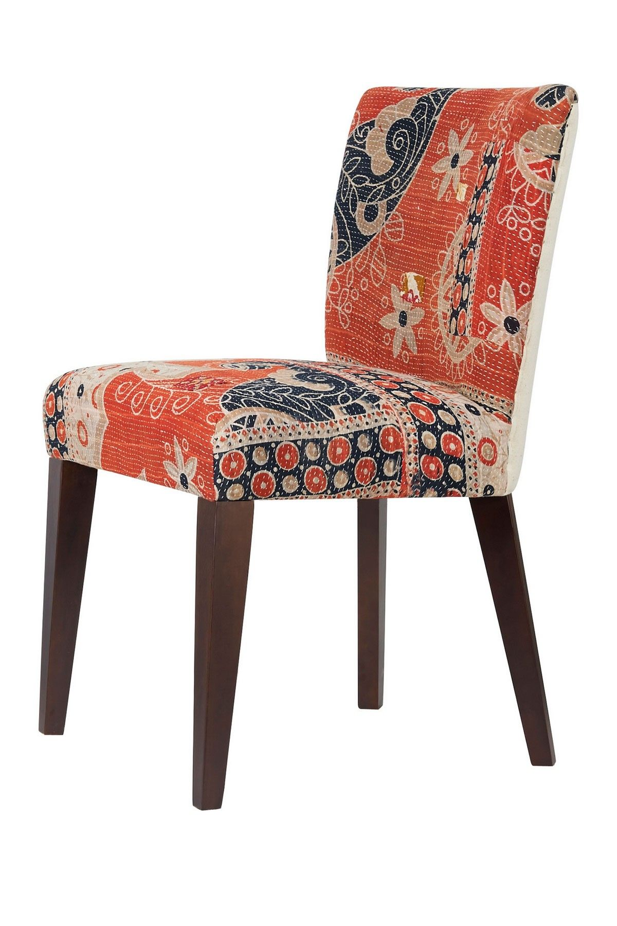 One of a Kind Vintage Kantha Blanket Small Accent Chair | Take A ...