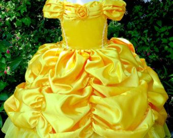 Belle Princess Gown Costume in Yellow por EllaDynae en Etsy