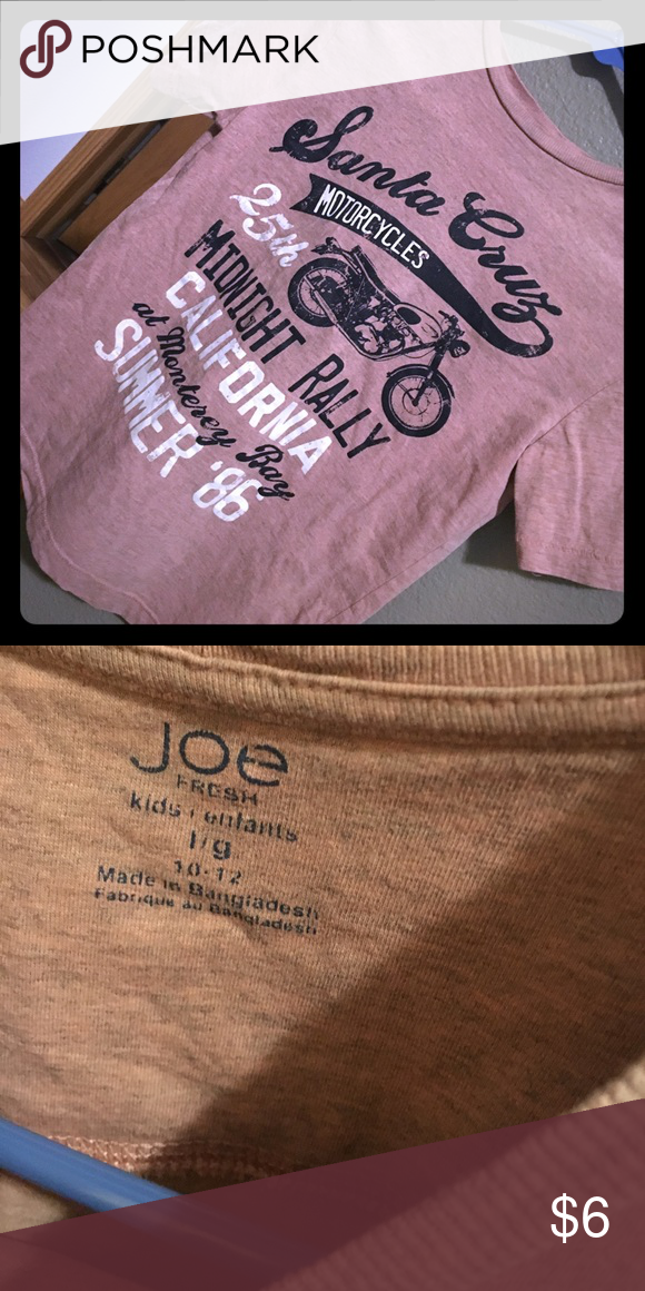Boys Size Large 10/12 Joe Fresh Tee Motor Cycle Graphic Tee, Boys Size 10/12 Joe Fresh Shirts & Tops Tees - Short Sleeve