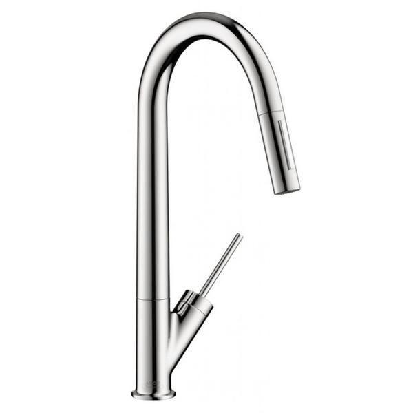hansgrohe axor starck higharc azb chrome kitchen faucet hansgrohe ...