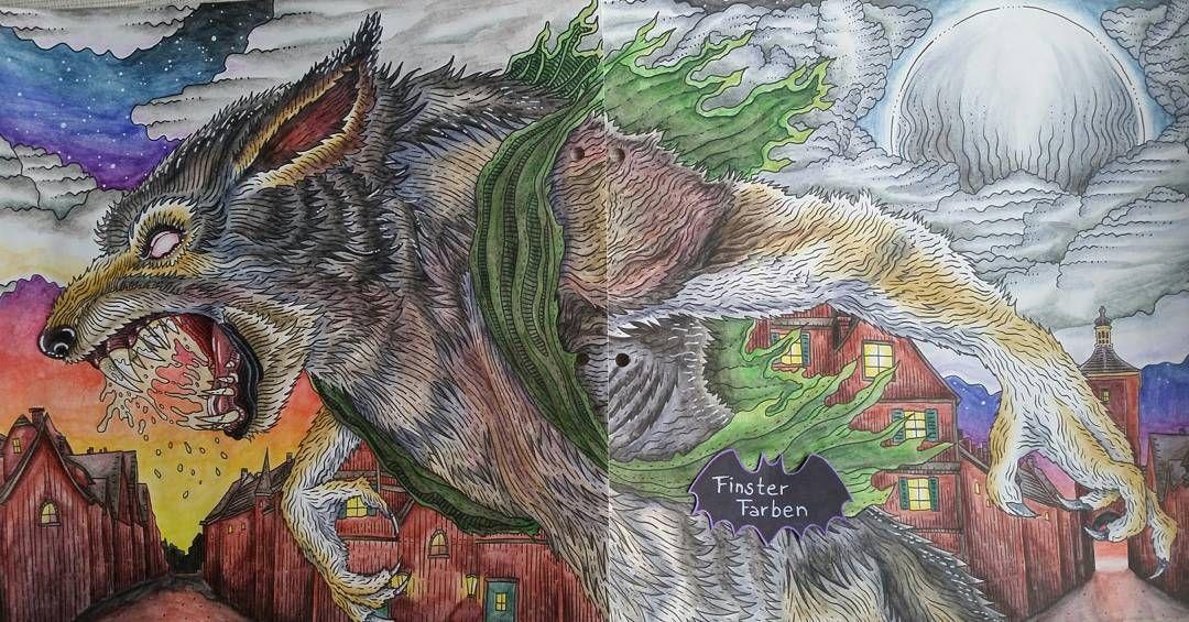 """FinsterFarben on Instagram: """"Big bad werewolf from Alan ..."""